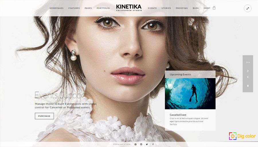Kinetika wordpress photography theme