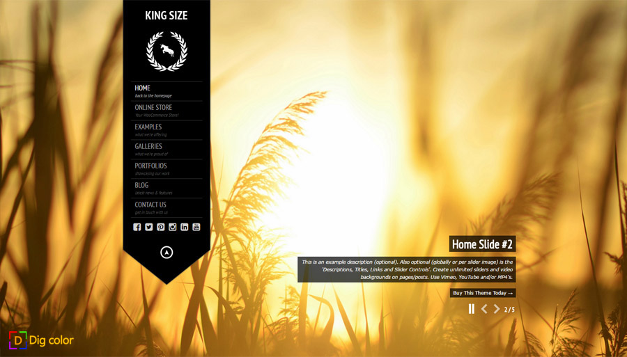 KingSize wordpress photography theme