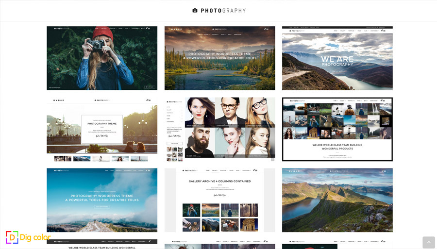 Photography wordpress photography theme